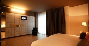 Doppelzimmer mit zustebet ele hotelandgo arasur hotel rivabellosa