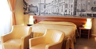 Deluxe-zimmer ele green park hotel pamphili rom, italien