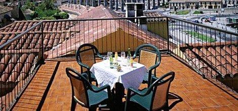 Dachterrasse ele acueducto hotel segovia