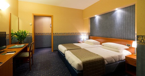 Dreibettzimmer ele green park hotel pamphili rom, italien
